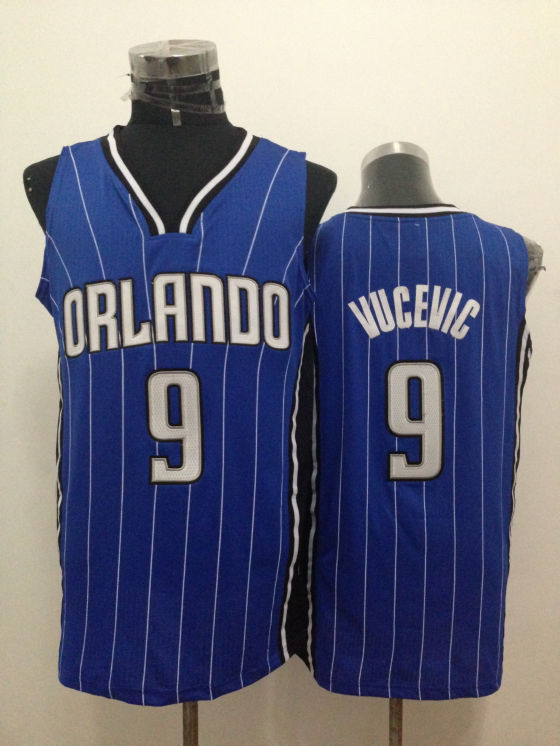 Magic 9 Vucevic Blue New Revolution 30 Jerseys