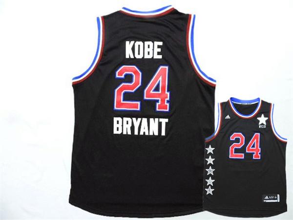 2015 NBA All Star NYC Western Conference 24 Kobe Bryant Black Jerseys