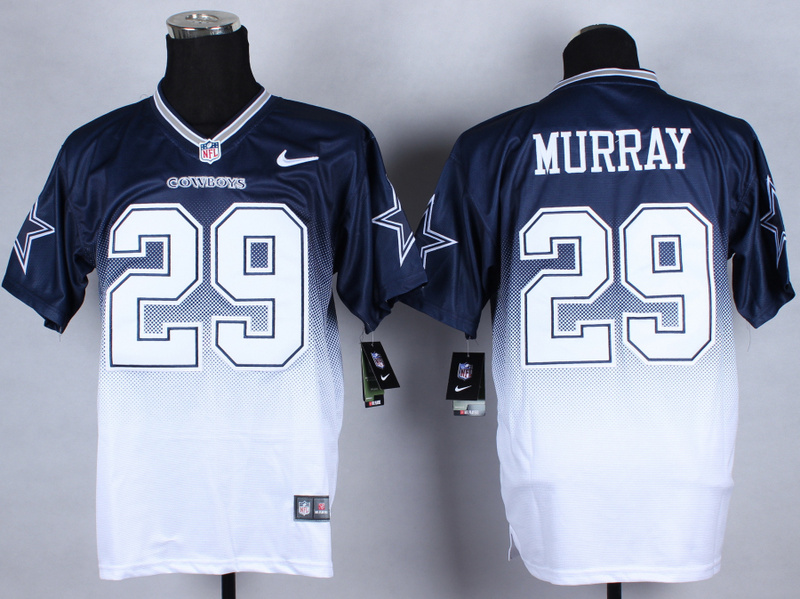 Nike Cowboys 29 Murray Blue And White Drift Fashion II Elite Jerseys