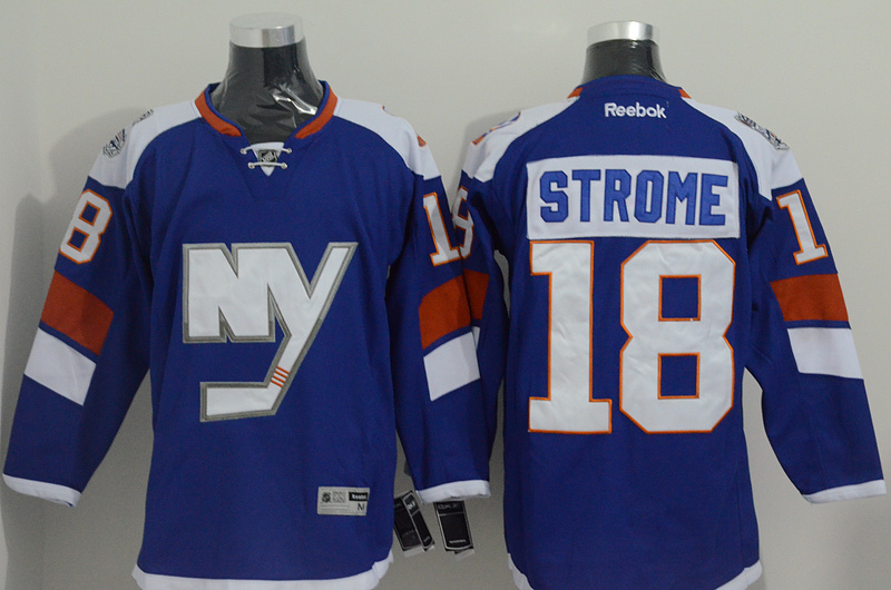 Islanders 18 Strome Blue 2015 Stadium Series Jersey