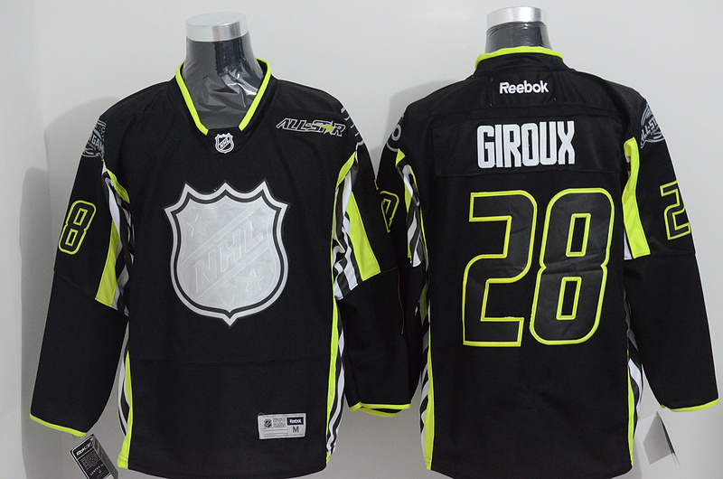 Flyers 28 Giroux Black 2015 All Star Jersey