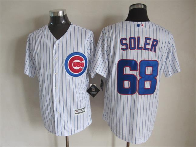 Cubs 68 Soler White New Cool Base Jersey