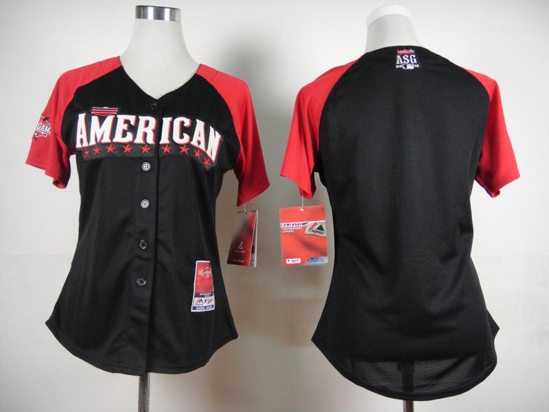 American League Blank Black 2015 All Star Women Jersey