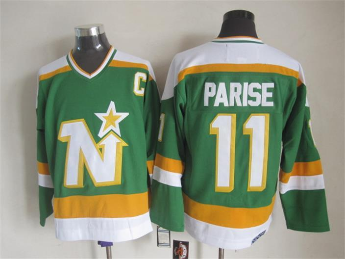 Stars 11 Parise Green C Patch CCM Jersey