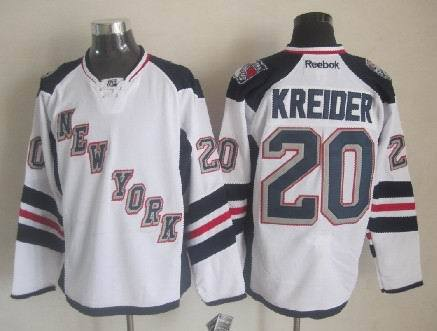 Rangers 20 Kreider White 2014 Stadium Series Jerseys