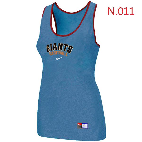 Nike San Francisco Giants Tri Blend Racerback Stretch Tank Top L.Blue