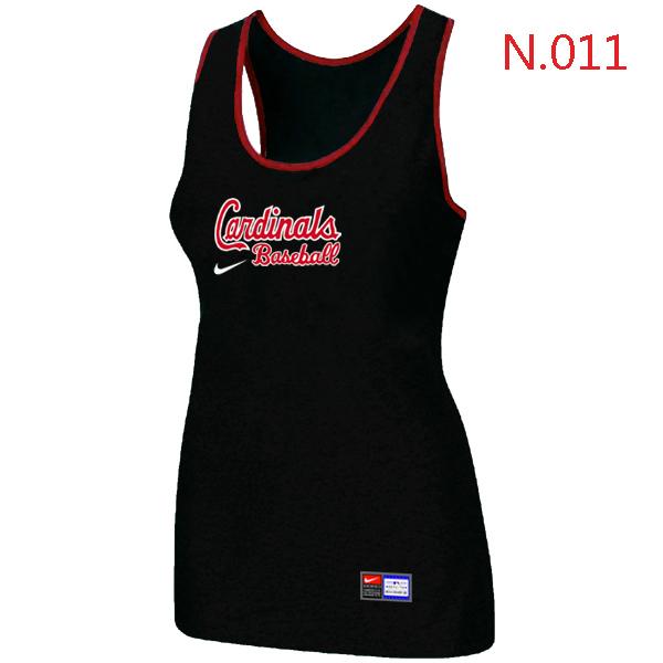 Nike St.Louis Cardinals Tri Blend Racerback Stretch Tank Top Black