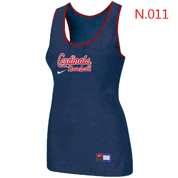 Nike St.Louis Cardinals Tri Blend Racerback Stretch Tank Top Blue