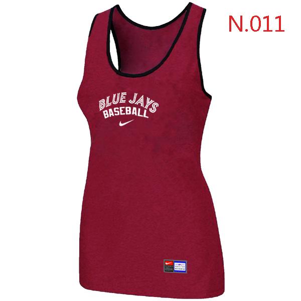 Nike Toronto Blue Jays Tri Blend Racerback Stretch Tank Top Red