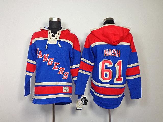 Rangers 61 Nash Blue Hooded Jerseys