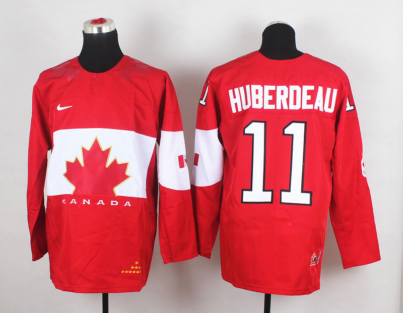 Canada 11 Huberdeau Red 2014 Olympics Jerseys