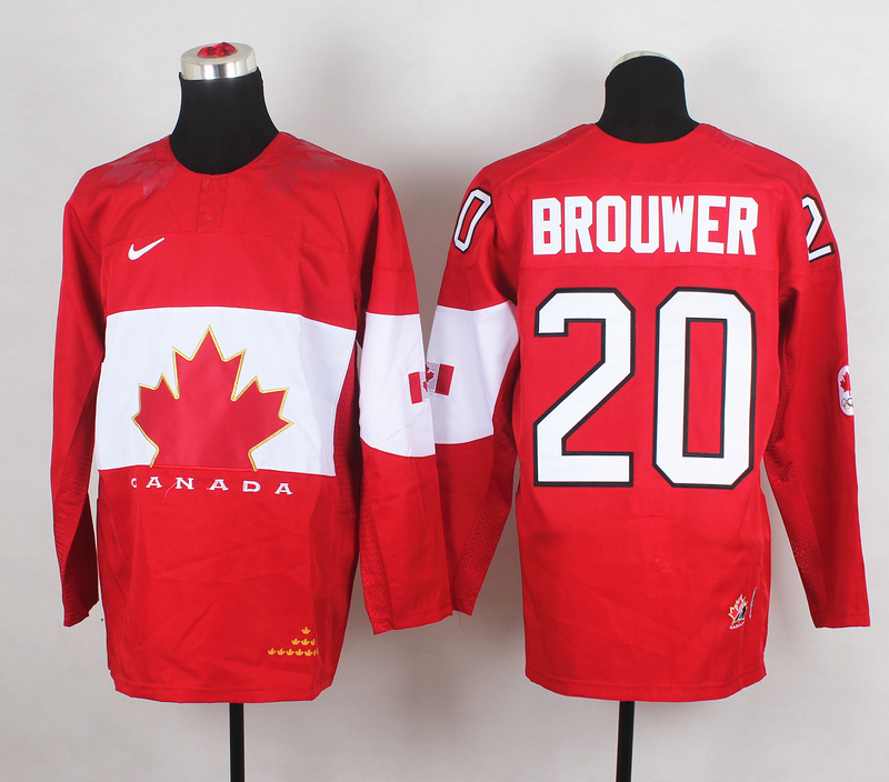 Canada 20 Brouwer Red 2014 Olympics Jerseys
