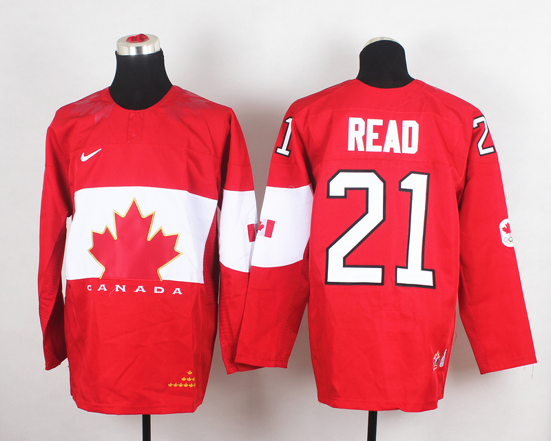 Canada 21 Read Red 2014 Olympics Jerseys