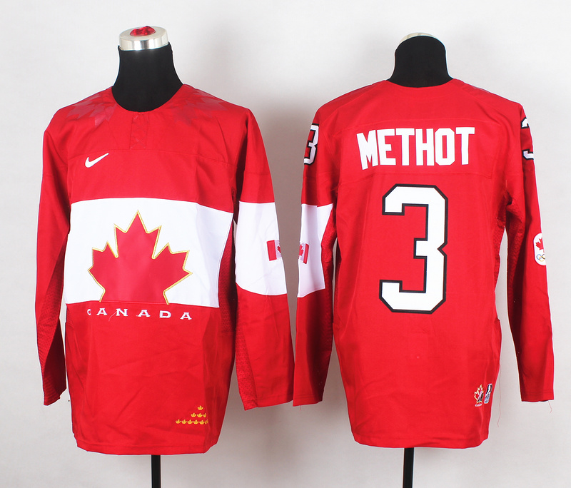 Canada 3 Methot Red 2014 Olympics Jerseys