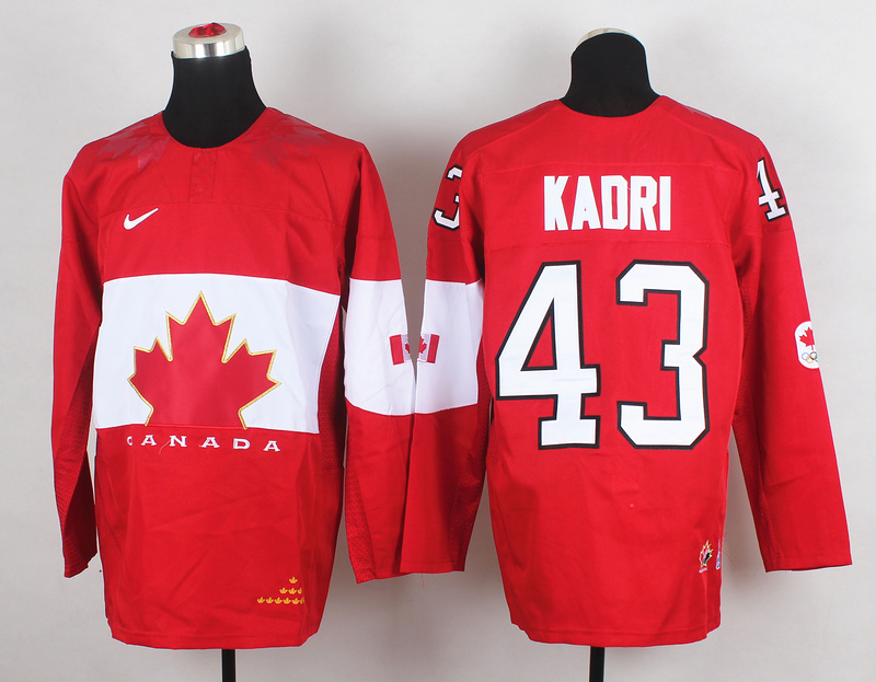 Canada 43 Kadri Red 2014 Olympics Jerseys