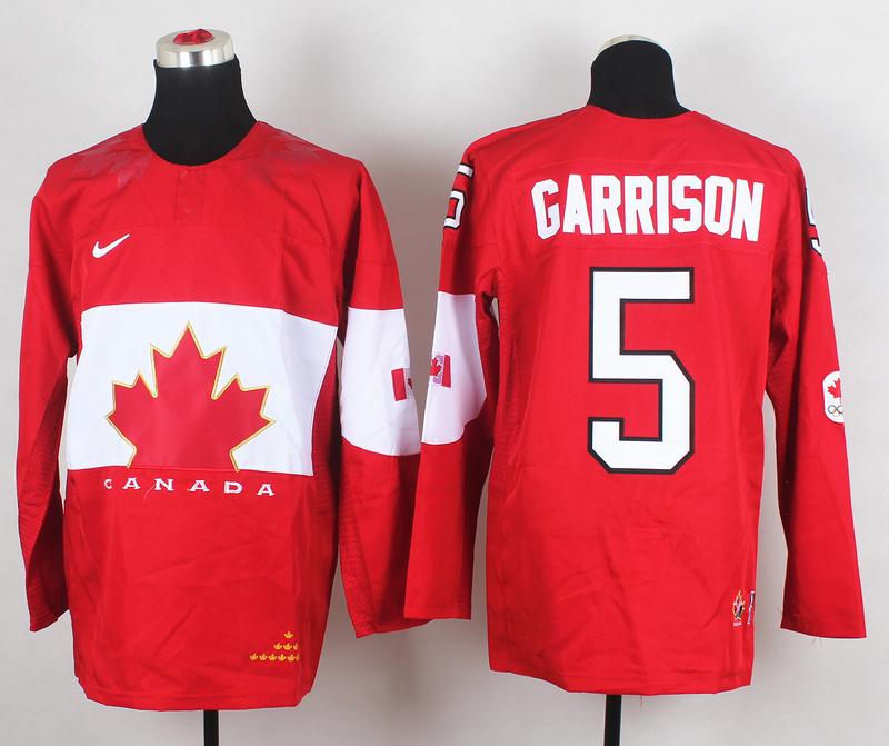 Canada 5 Garrison Red 2014 Olympics Jerseys