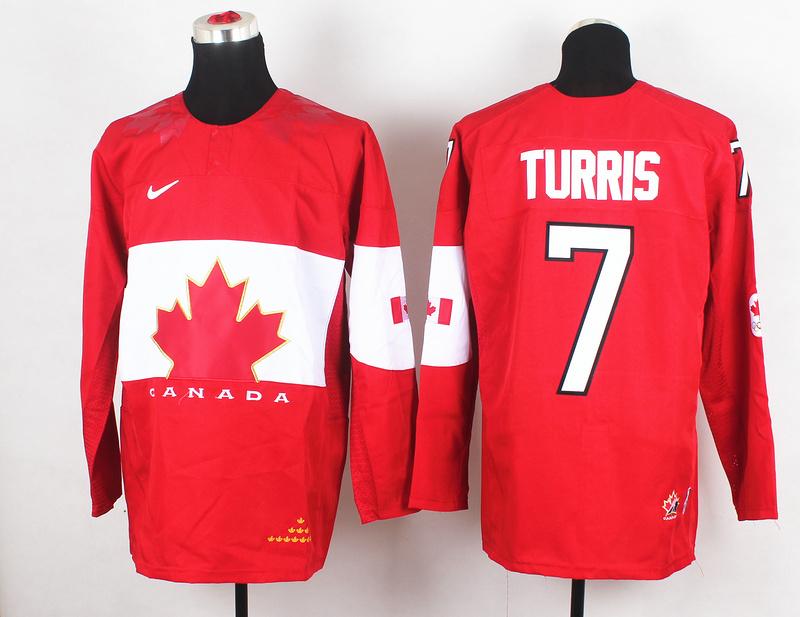 Canada 7 Turris Red 2014 Olympics Jerseys