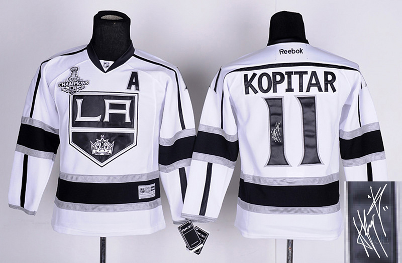 Kings 11 Kopitar White Signature Edition Youth Jerseys