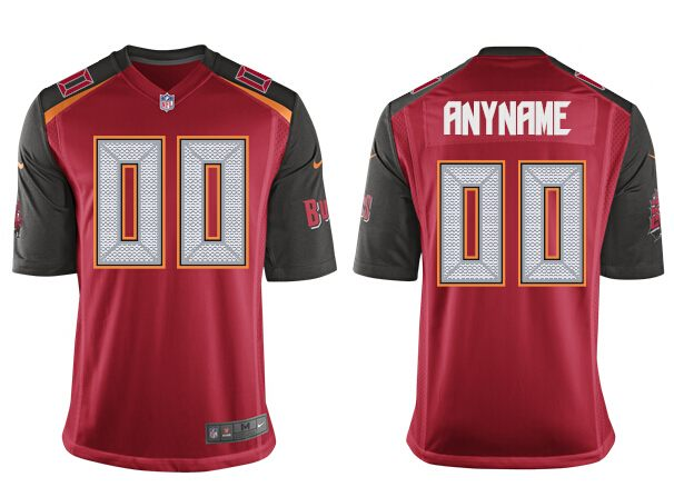 Nike Buccaneers Men Red Game Customized Jersey