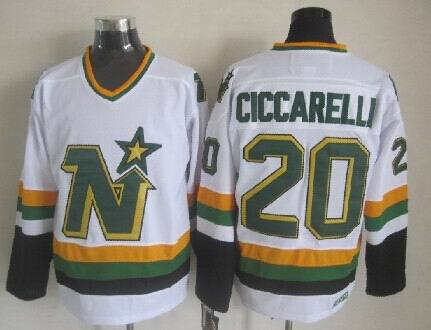 Stars 20 Ciccarelli White Throwback Jerseys