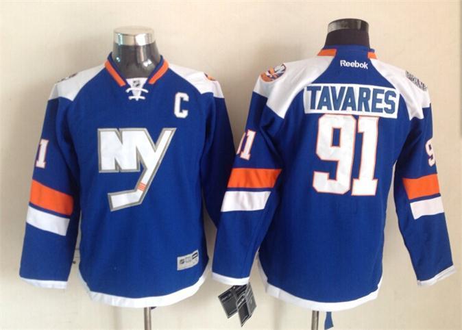 Islanders 91 Tavares Blue 2015 Stadium Jerseys