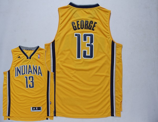 Pacers 13 George Gold New Revolution 30 Jerseys
