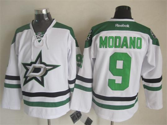 Stars 9 Modano White Jerseys