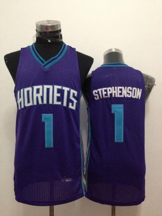 Hornets 1 Stephenson Purple New Revolution 30 Jerseys