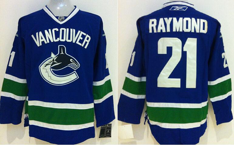Canucks 21 Raymond Blue Jerseys