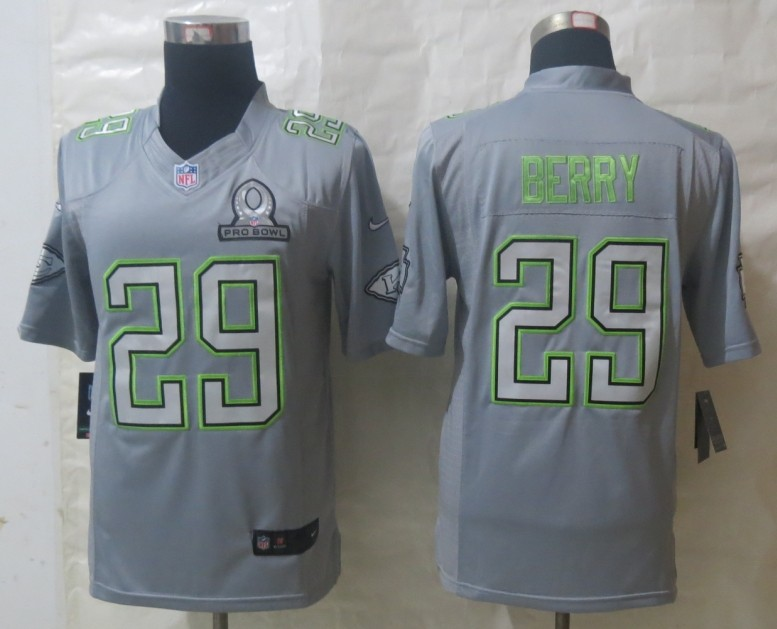 Nike Chiefs 29 Berry Grey 2014 Pro Bowl Jerseys