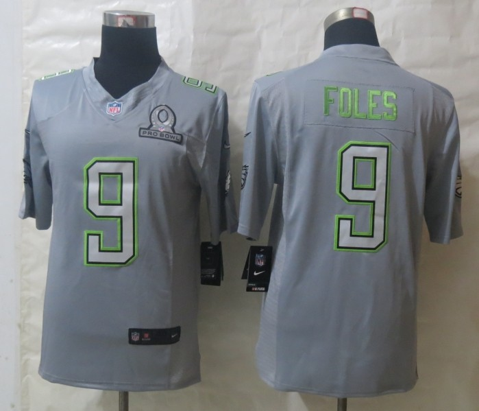 Nike Eagles 9 Foles Grey 2014 Pro Bowl Jerseys