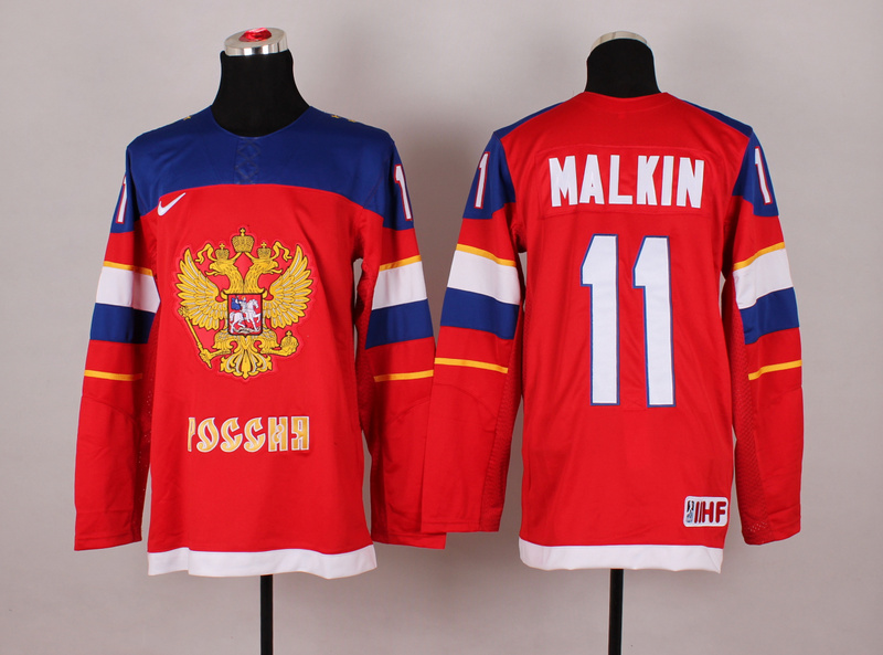 Russia 11 Malkin Red 2014 Olympics Jerseys