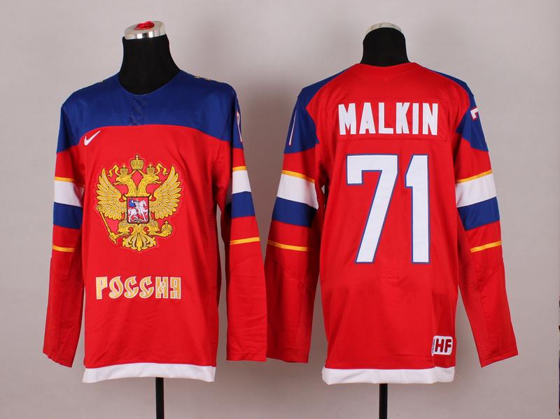 Russia 71 Malkin Red 2014 Olympics Jerseys