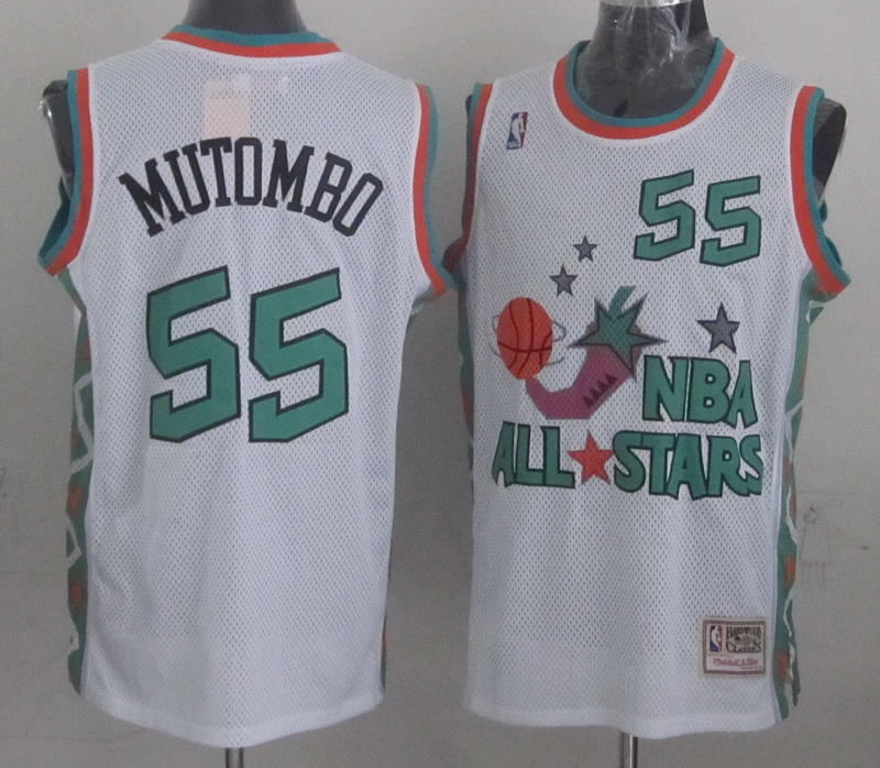 1996 All Star 55 Mutombo White Jerseys