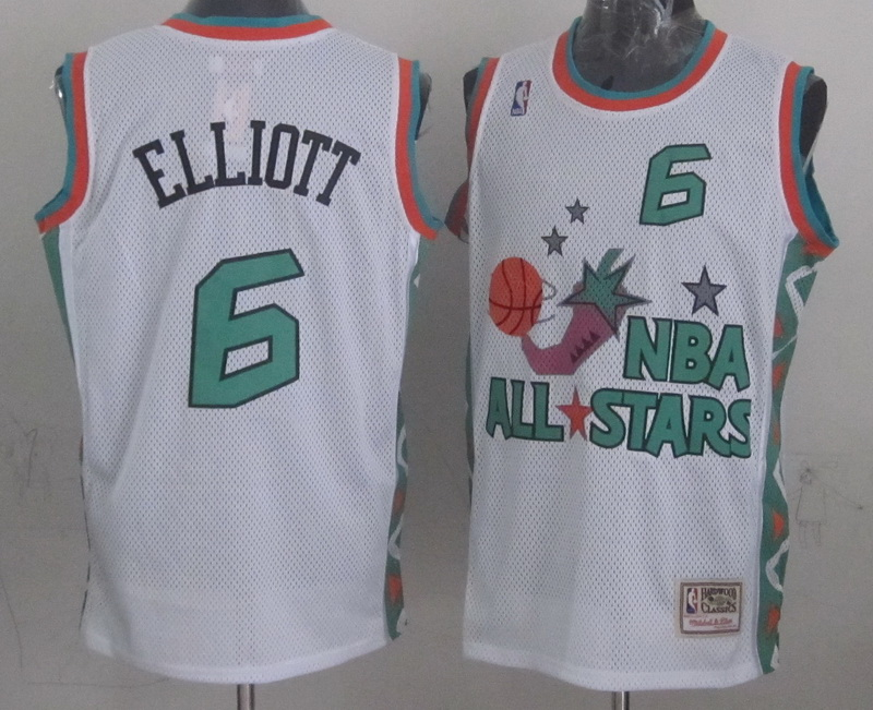1996 All Star 6 Elliott White Jerseys