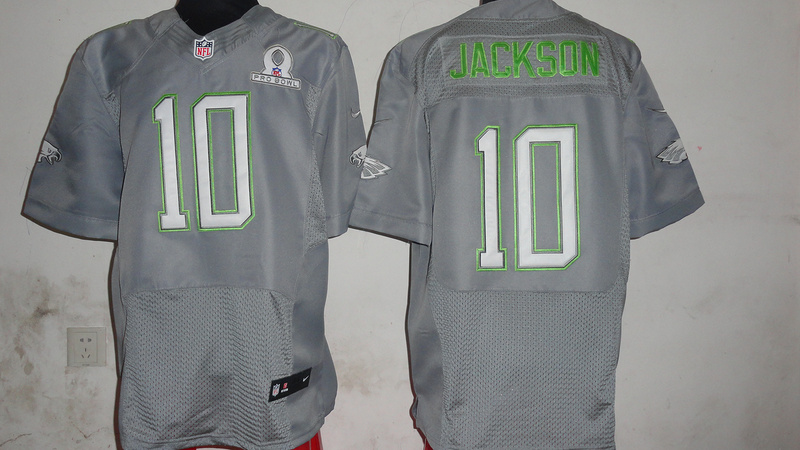 Nike Eagles 10 Jackson Grey 2014 Pro Bowl Jerseys