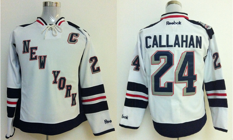 Rangers 24 Callahan White 2014 Stadium Series Jerseys