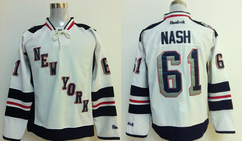 Rangers 61 Nash White 2014 Stadium Series Jerseys