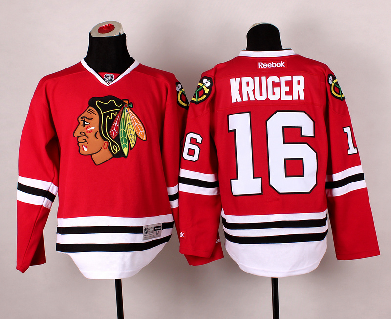 Blackhawks 16 Kruger Red 2014 Stadium Series Jerseys