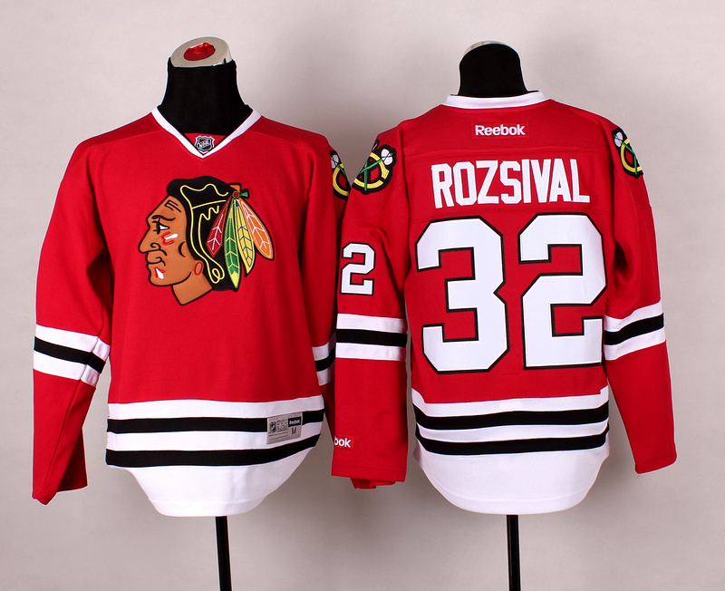 Blackhawks 32 Rozsival Red 2014 Stadium Series Jerseys