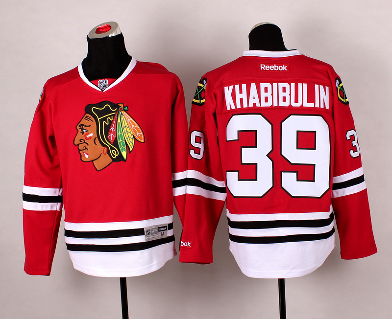Blackhawks 39 Khabibulin Red 2014 Stadium Series Jerseys