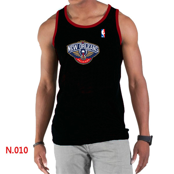 New Orleans Pelicans Big & Tall Primary Logo Men Black Tank Top
