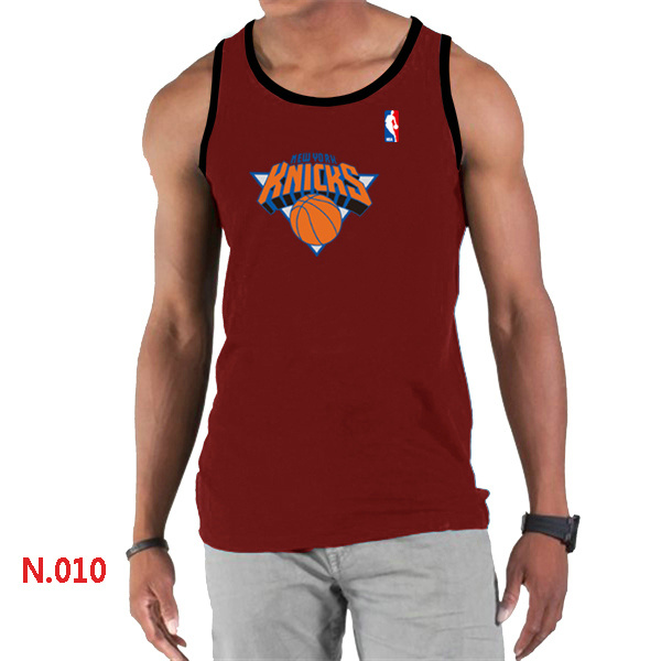 New York Knicks Big & Tall Primary Logo Men Red Tank Top