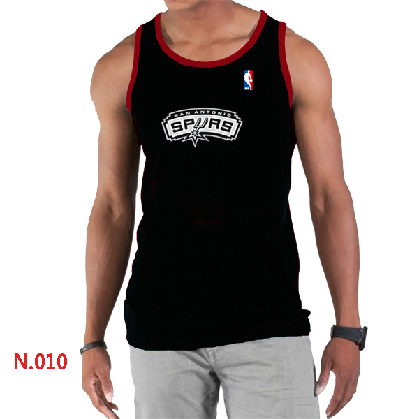 San Antonio Spurs Big & Tall Primary Logo Men Black Tank Top