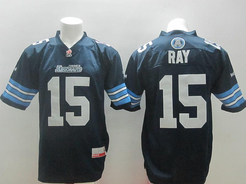 Reebok CFL Toronto Argonauts 15 Ray Blue Jerseys