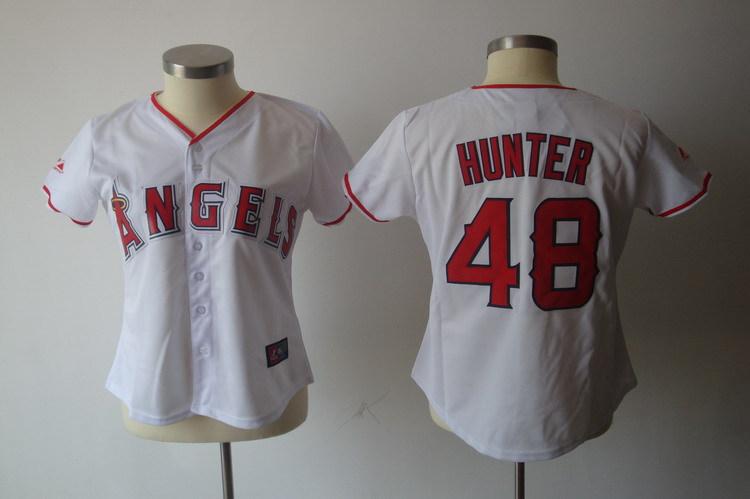 Angels 48 Hunter White Women Jersey