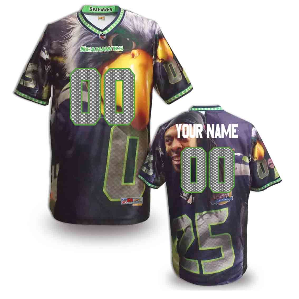 Nike Seahawks Customized Fashion Stitched Jerseys02