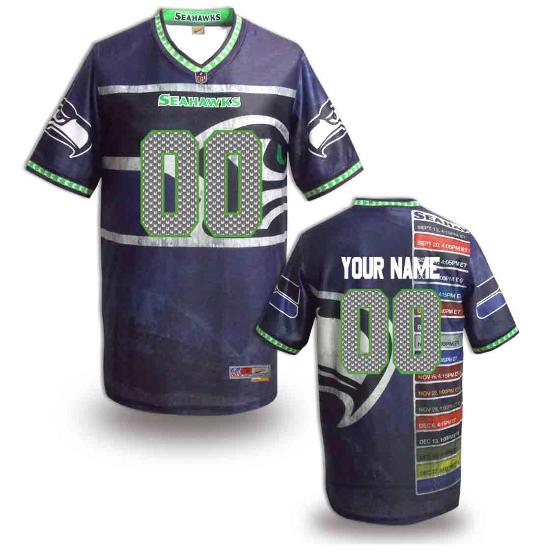 Nike Seahawks Customized Fashion Stitched Jerseys07