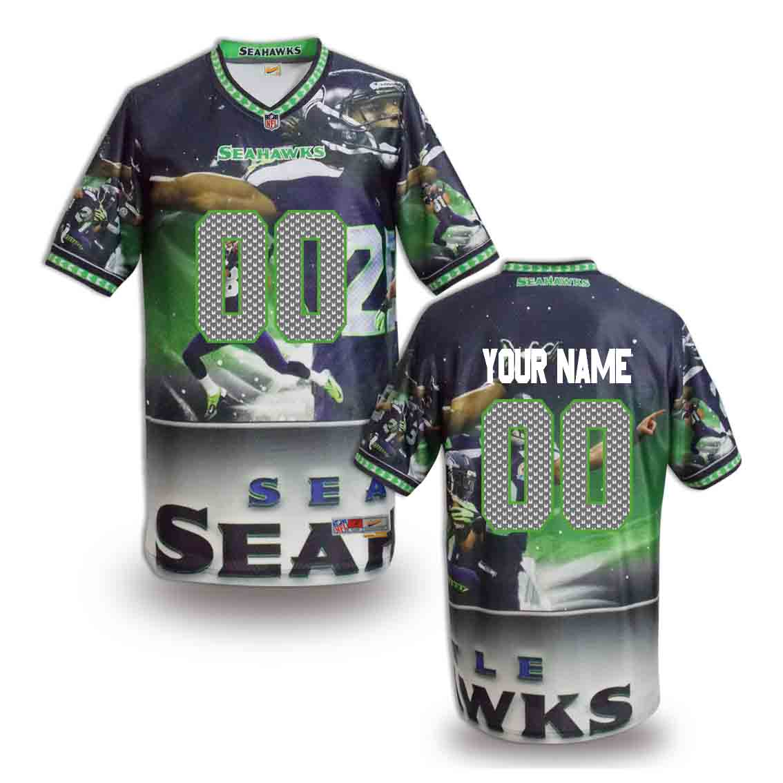 Nike Seahawks Customized Fashion Stitched Jerseys12