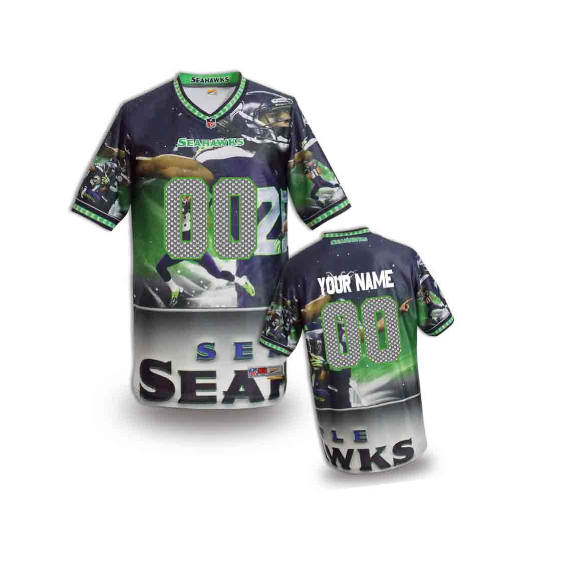 Nike Seahawks Customized Fashion Stitched Youth Jerseys03